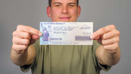American stimulus check to help people with coronavirus crisis.