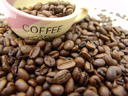 coffe beans and cup Stock Photo - 2361747