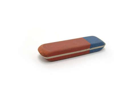 blunder: eraser on a white background  Stock Photo