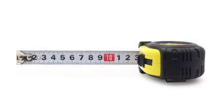 tape-measure on a white background
