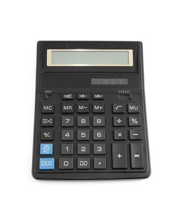 black calculator on a white background Stock Photo