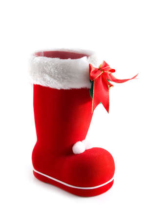 christmas boot on a white background