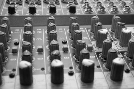 Professional sound mixer. Close-up photo
