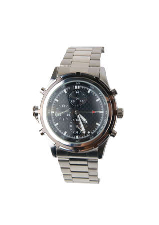 Steel watch on a white background. Isolated  photo