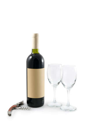 unlabelled: Wine still life. You can easily add your own design on label.