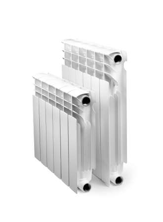 two water radiator isolated on a white Stock Photo