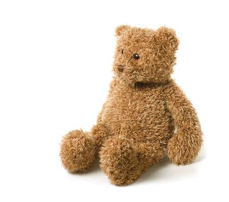 teddy bear: Oso de peluche aislado en un fondo blanco Foto de archivo
