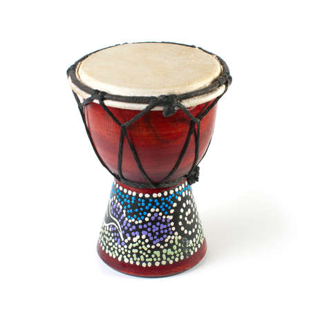drums: African Djembe Drum on a white background