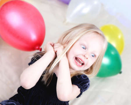 little girl with balloons Stock Photo - 9607991