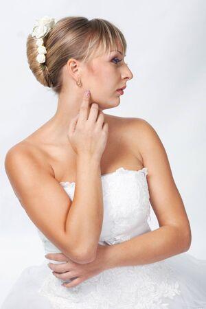 Bride photo isolated on white background photo