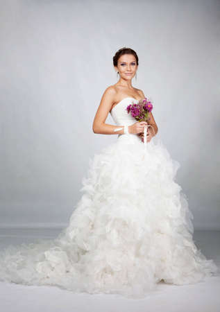 Brunet ritratto sposa in studio photo