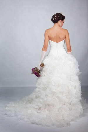 Brunet bride photo in studio Stock Photo - 11568519
