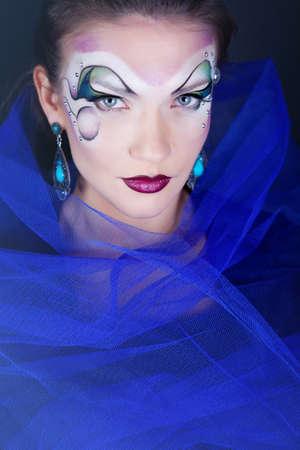 cara pintada: Chica con la cara pintada