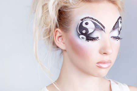 body paint sexy: Girl with painted face