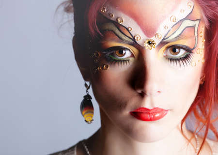 body paint: Girl with painted face