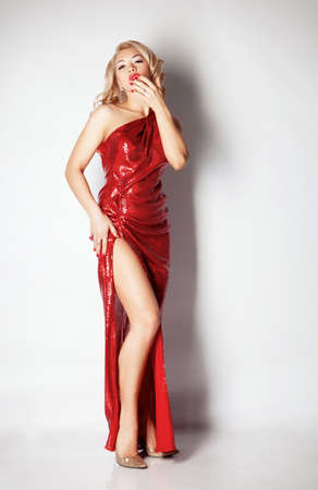 Blond woman portrait in studio Stock Photo - 12326138