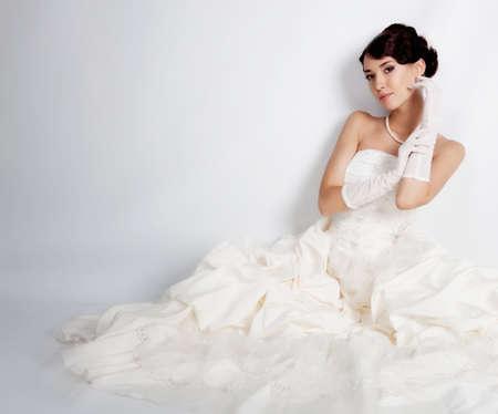 hair dress: Pelo negro retrato de la novia