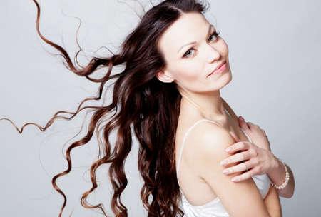 Beauriful brunette girl portrait in studio Stock Photo - 12604561