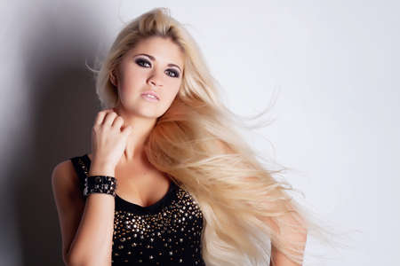 Young beautiful blonde in studio Stock Photo - 13156469