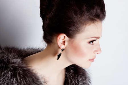 Young beautiful woman studio portrait photo