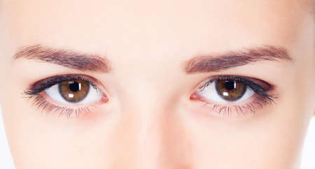 Woman eyes close up image photo