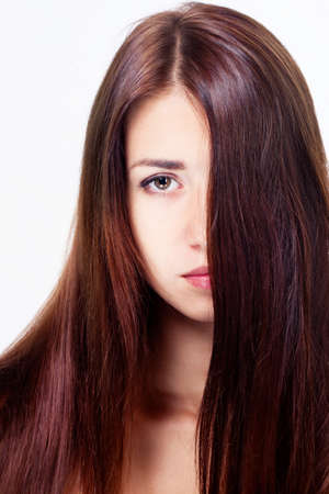 Young woman with beautiful hair photo