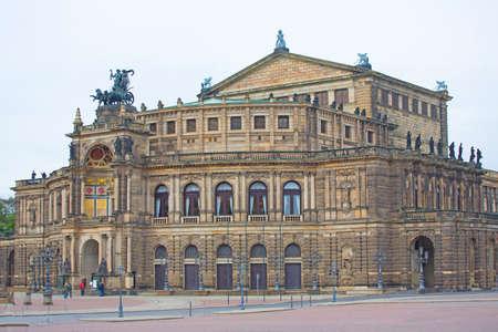 Opera theater building in Dresden