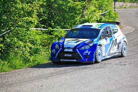 irc: FOROS, UKRAINE - JUNE 4: Alexey Tamrazov driving his car at IRC Prime Yalta-Rally 2011, Foros, Ukraine, 4 june 2011