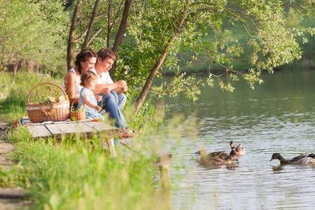 Family on picnic Banco de Imagens