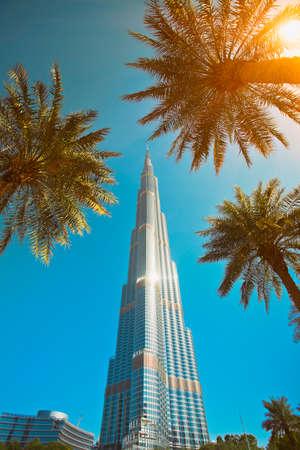 Burdj Khalifa tower in downtown Dubai city