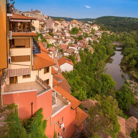 Veliko tarnovo town in Bulgaria Banco de Imagens