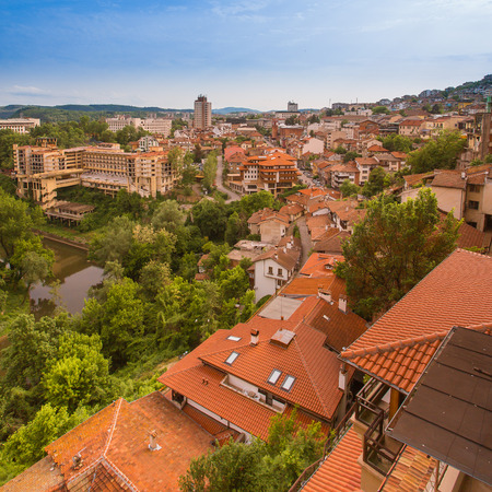 Veliko tarnovo town in Bulgaria 스톡 콘텐츠