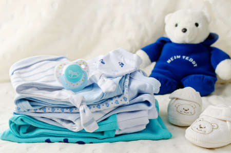 birthday suit: Baby clothes for newborn. In pastel colors