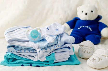 Baby kleding voor pasgeboren. In pastel kleuren Stockfoto