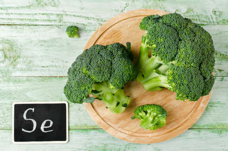source of iron: Broccoli rich in vitamins and minerals. Dietary product for the prevention of various diseases
