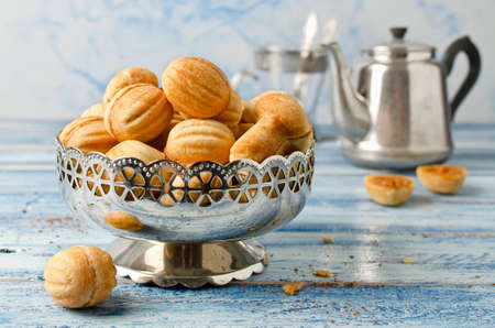 """Cookies """"Nuts"""" with condensed milk and nuts. Homemade cookies"""