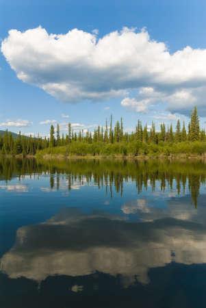 yukon territory: Yukon river scenery