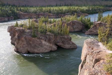 yukon territory: Five Finger Rapids on Yukon river