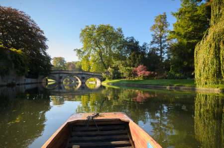 punting: Punting on the river Cam in Cambridge