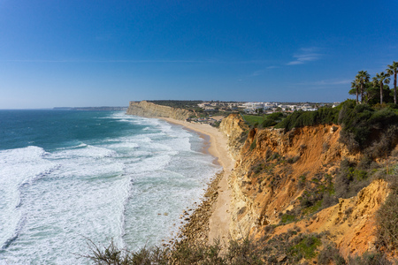 Beautiful beaches near Lagos, Portugal, praia do canavial