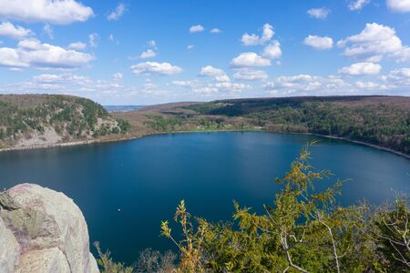 Devil's lake Wisconsin on a sunny day Banco de Imagens