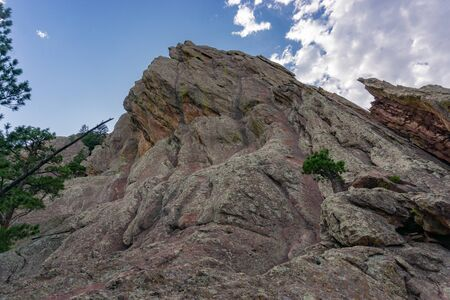 One of many peaks in the flatiron mountain range Boulder Colorado