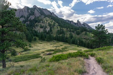 Hiking trail in Boulder, Colorado Banco de Imagens