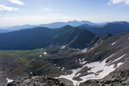 View from Grays and Torreys peaks in Colorado Alpine summer Banco de Imagens