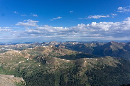 View from the top of Torreys peak, Colorado Rocky mountains