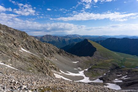 Kelso ridge and Kelso mountain as seen from Torrey's Peak, Colorado