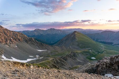Sunrise from Gray's peak, rocky mountains Colorado