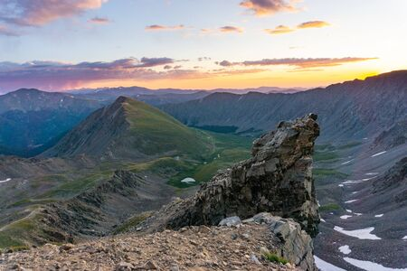 View from gray's peak as the sun rises Banco de Imagens