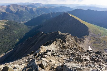 View up the Kelso ridge scramble from the summit of Torrey's Peak, Colorado