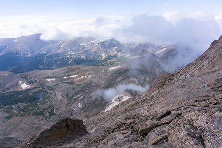 Rocky mountain National Park as seen from Longs Peak Banco de Imagens